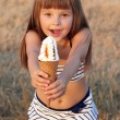 Girl eats ice cream — Stock Photo #40831835