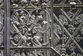 Iron forged grid — Stock Photo