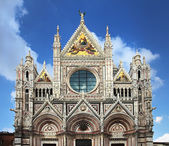 Facade of Siena dome — Stock Photo