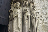 The entrance of Chartres cathedral — 图库照片