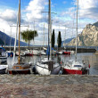 The morning at Lake  Garda — Stock Photo