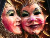 Mask couple — Stock Photo
