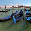 Gondolas on Grand Canal in Venicee — Stock Photo