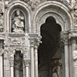 the entrance of chartres cathedral — Stock Photo