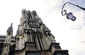 Gothic cathedral, Rheims — Foto de Stock