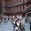 Musicians parade in Siena — Stockfoto