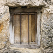 Old window closed — Stock Photo