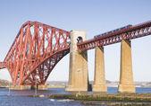 Forth Rail Bridge in Edinburgh, Scotland — Stock Photo