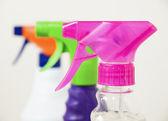 Three different colors sprayers — Stock Photo