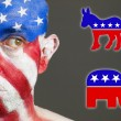 Face flag United States democrat and republican symbols 2 — Stock Photo
