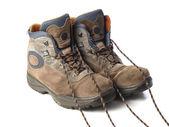 A pair of trekking boots — 图库照片