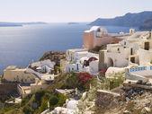 Typical buildings in Santorini — Stock Photo