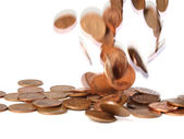 Falling coins 2 — Stock Photo