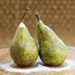 Two pears with flour — Stock Photo