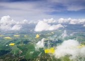 Land of Denmark from plane — Stock Photo