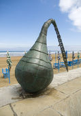 Sculpture of a buoy in Zarautz, Basque Country. — Stock Photo