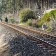 Stock Photo: Railway in diagonal composition