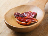 Dried red chilies — Stock Photo