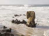 Seascape with a big rock — Stock Photo