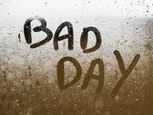 "Text ""BAD DAY"" written in a crystal — Stock Photo"