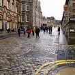 Постер, плакат: EDINBURGH SCOTLAND JANUARY 20: Royal Mile street in Edinburgh