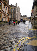 Edimburgo, escocia-enero 20: calle en edinburgh royal mile, — Foto de Stock