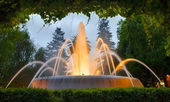 Beauty fountain in Ferrol — Stock Photo