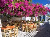 Small square in Mykonos — Stock Photo