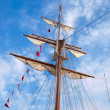 Mast of a ship — Stock Photo