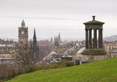 View of Edinburgh city center — Stock Photo
