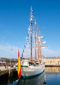 FERROL, SPAIN - FEBRUARY 16: Spanish Navy Training Ship, Juan Se — Stock Photo