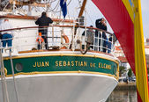 FERROL, SPAIN - FEBRUARY 16: Spanish Navy Training Ship, Juan Se — ストック写真