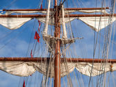 Mast of a ship detail — Stock Photo
