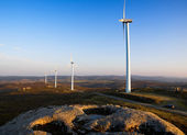 Wind turbines in a landscape — Stock Photo