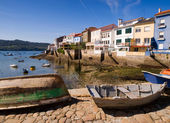 Wooden boats in a fishing village — Stock Photo