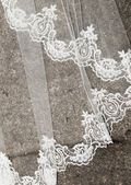 Wedding dress detail — Stock Photo