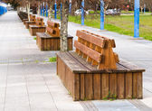 Benches in the boardwalk — Stock Photo