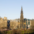 Stock Photo: Edinburgh and Walter Scott Monument