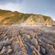 Stock Photo: Flysch in LVegbeach, Asturias, Spain