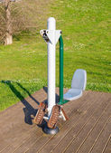 Exercise machine in a public park — Foto Stock