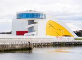 AVILES, SPAIN - MARCH 10 View of Niemeyer Center building, in Av — Stock Photo