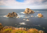 Zeegezicht in de kust van galicië, spanje. — Stockfoto