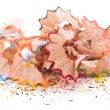 Sharpened pencils shavings — Stock fotografie #32032561