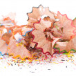 Sharpened pencils shavings — Stock Photo