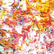Sharpened pencils shavings background — Stock Photo