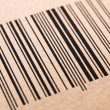 Bar code printed on a cardboard — Stock Photo