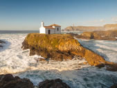 Little chapel in Galician coast — Stock Photo