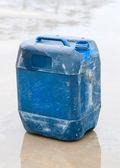 Blue plastic drum — Foto Stock