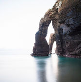Beach of Las Catedrales or As Catedrais, Ribadeo, Galicia, Spain — Foto Stock