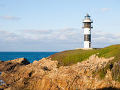 Lighthouse in Illa Pancha, Lugo, Galicia, Spain. — Stock Photo